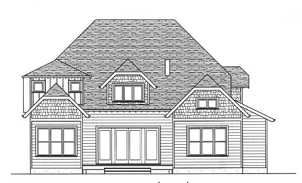 Craftsman House Plan 53808 Rear Elevation