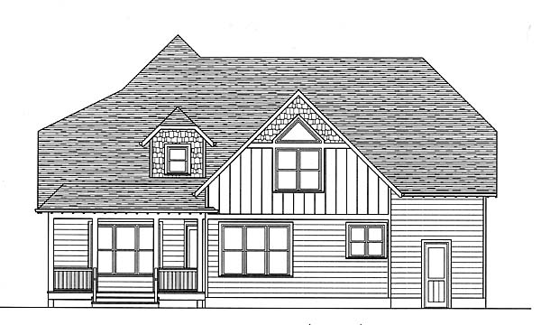 Craftsman House Plan 53809 Rear Elevation