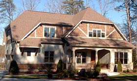 Craftsman House Plan 53810 with 4 Beds, 3 Baths, 3 Car Garage Elevation