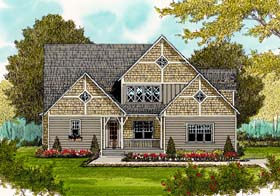 House Plan 53812 | Craftsman Style Plan with 2744 Sq Ft, 4 Bedrooms, 4 Bathrooms, 2 Car Garage Elevation