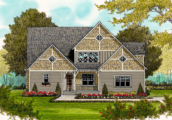 Craftsman Elevation of Plan 53812