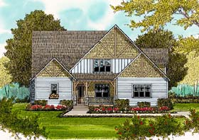 Victorian House Plan 53813 Elevation