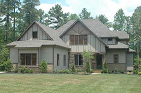 House Plan 53816 | Craftsman Style Plan with 2916 Sq Ft, 4 Bedrooms, 4 Bathrooms, 2 Car Garage Elevation