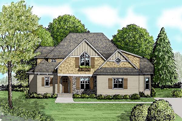 Craftsman House Plan 53817 Elevation
