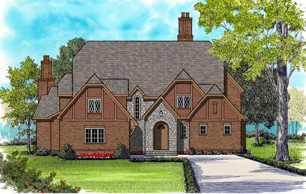 Tudor House Plan 53818 Elevation