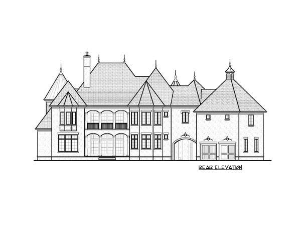 European House Plan 53819 Rear Elevation