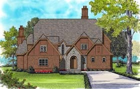 European Tudor House Plan 53820 Elevation