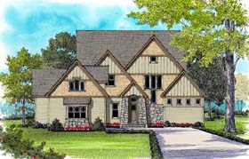 Craftsman House Plan 53828 Elevation