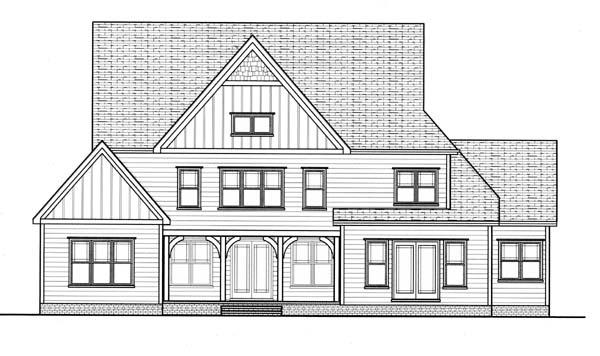 Craftsman House Plan 53828 Rear Elevation