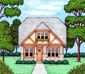 Bungalow Craftsman Tudor House Plan 53836 Elevation