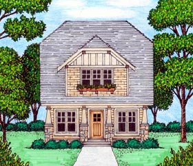 House Plan 53838 | Bungalow Craftsman Tudor Style Plan with 2288 Sq Ft, 4 Bedrooms, 3 Bathrooms Elevation