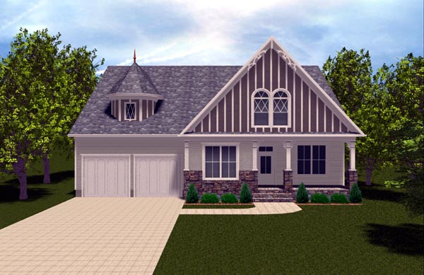 Farmhouse Victorian House Plan 53847 Elevation