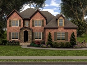 Tudor House Plan 53850 Elevation