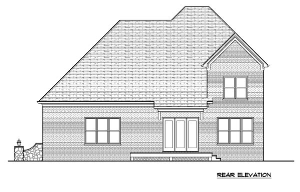 Tudor House Plan 53850 Rear Elevation