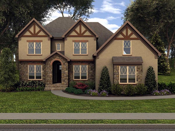 Tudor House Plan 53852 Elevation