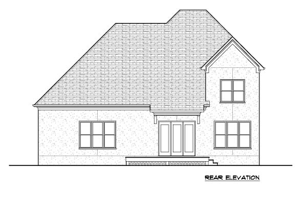Tudor House Plan 53852 Rear Elevation