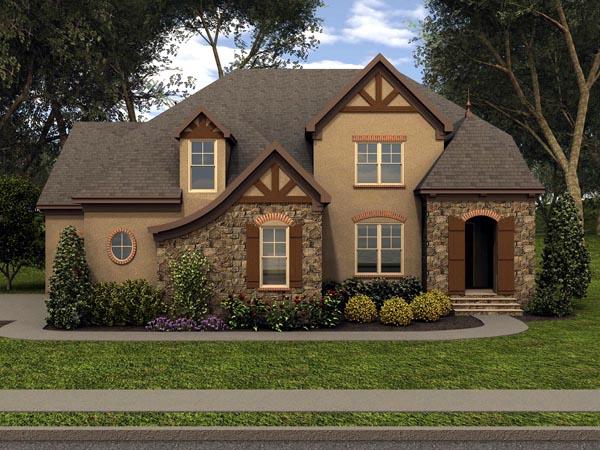 Tudor House Plan 53853 Elevation