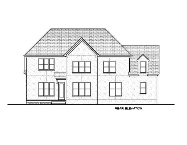 Tudor House Plan 53853 Rear Elevation