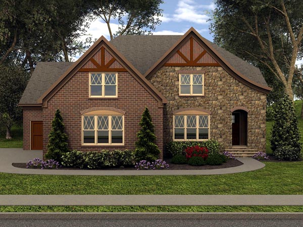 Tudor House Plan 53854 Elevation