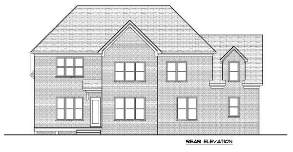 Tudor House Plan 53854 Rear Elevation