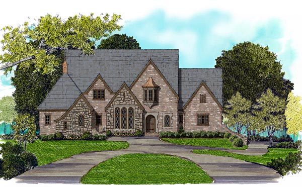 Tudor House Plan 53855 Elevation