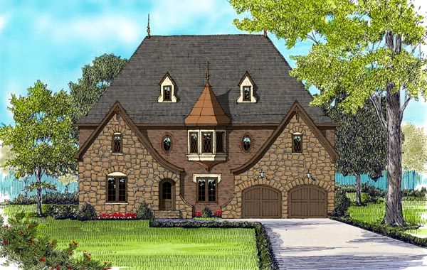 House Plan 53857 Elevation