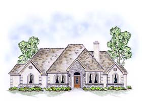 European Traditional House Plan 53901 Elevation