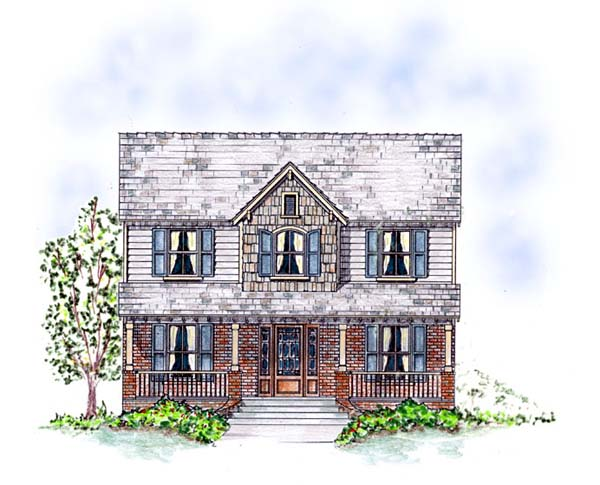 Country Southern Traditional House Plan 53903 Elevation