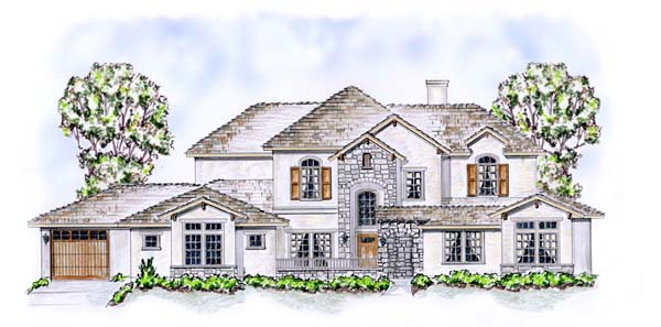 Craftsman European House Plan 53905 Elevation