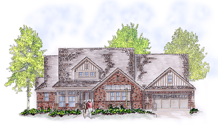 Country, Craftsman, European House Plan 53906 with 4 Beds, 4 Baths, 3 Car Garage Picture 2
