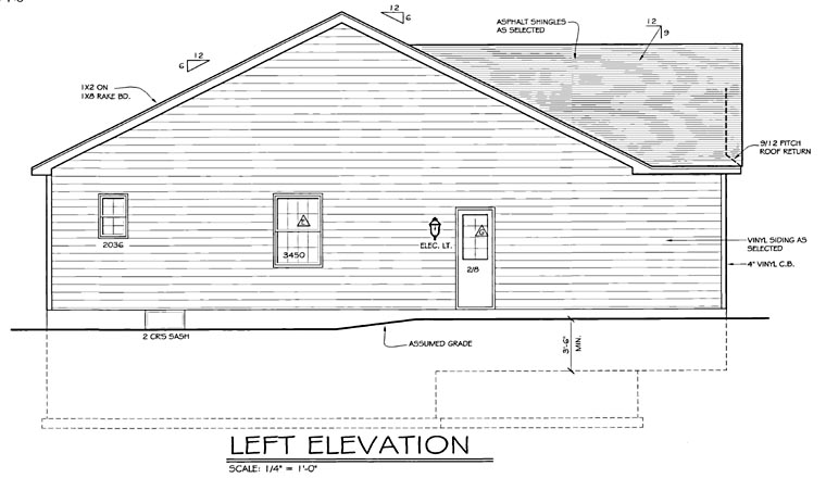 Ranch House Plan 54000 with 2 Beds, 2 Baths, 2 Car Garage Picture 1