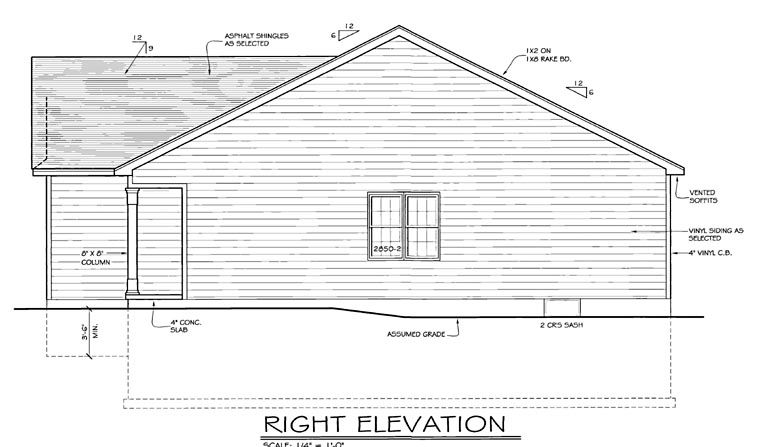 Ranch House Plan 54000 with 2 Beds, 2 Baths, 2 Car Garage Picture 2