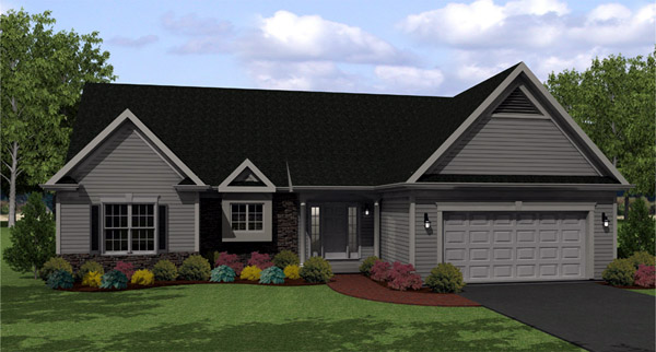 Ranch House Plan 54007 Elevation