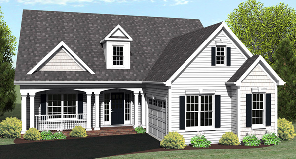 Ranch House Plan 54010 with 3 Beds, 2 Baths, 2 Car Garage Elevation