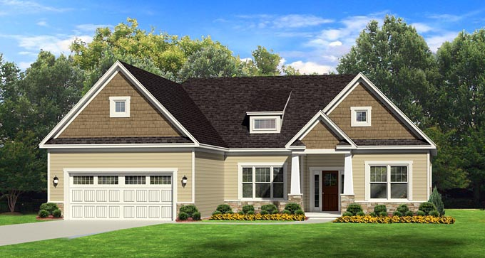 Ranch House Plan 54012 Elevation