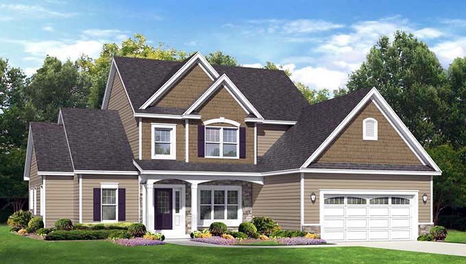 Cape Cod House Plan 54013 Elevation