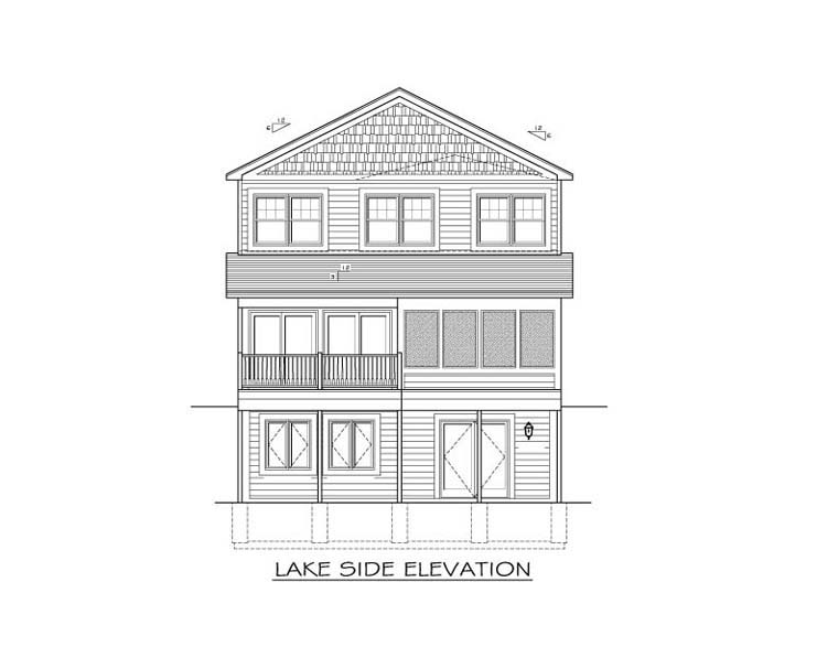 Traditional House Plan 54020 Rear Elevation