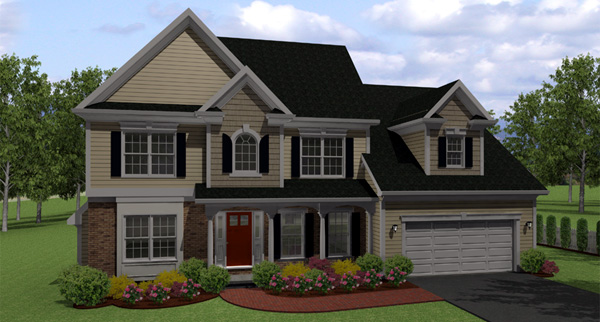 Country Traditional House Plan 54024 Elevation