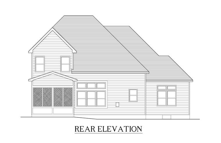 Cape Cod House Plan 54026 Rear Elevation