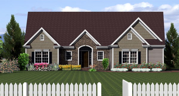 Ranch House Plan 54029 Elevation