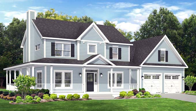 Traditional House Plan 54031 Elevation