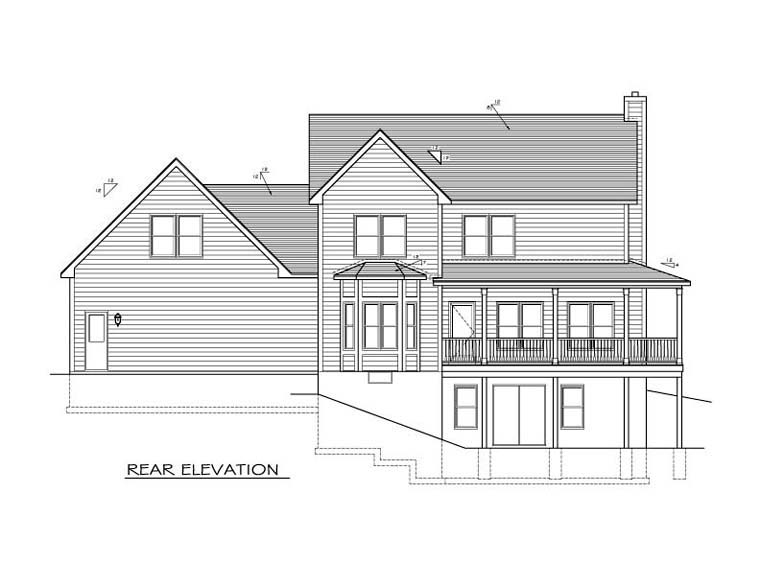 Traditional House Plan 54031 Rear Elevation