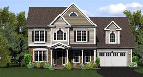 Country Traditional House Plan 54034 Elevation