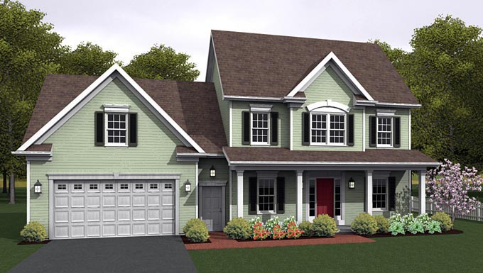 Traditional House Plan 54035 Elevation