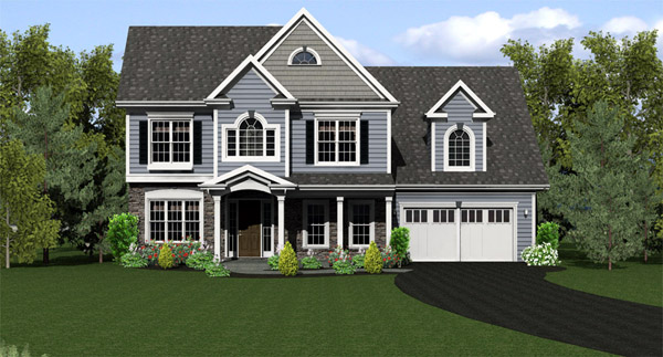 Country Traditional House Plan 54043 Elevation