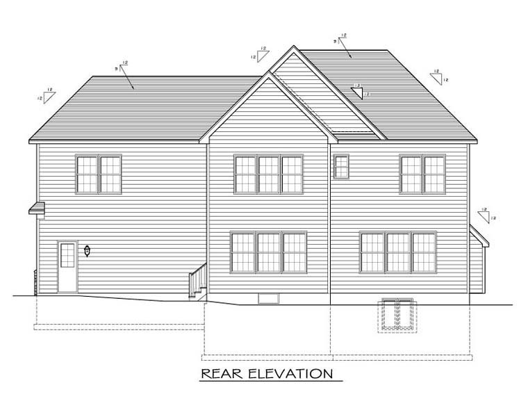 Traditional House Plan 54046 Rear Elevation