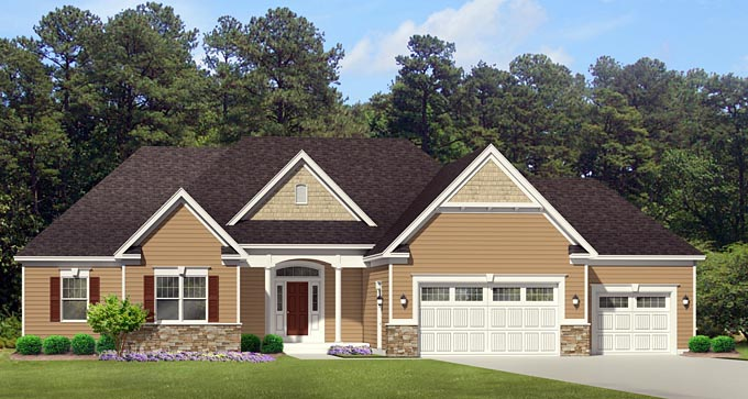 Ranch House Plan 54053 Elevation