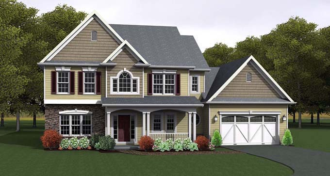 Traditional House Plan 54056 Elevation