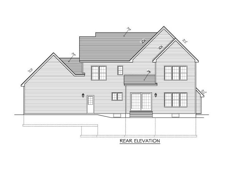 Traditional House Plan 54056 Rear Elevation