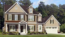Traditional House Plan 54058 Elevation